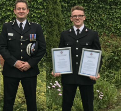 Thurrock police officer commended for saving two lives