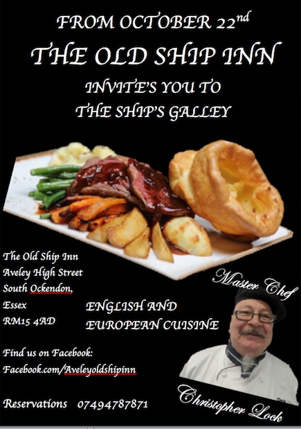 Great dining at the Old Ship Inn, Aveley