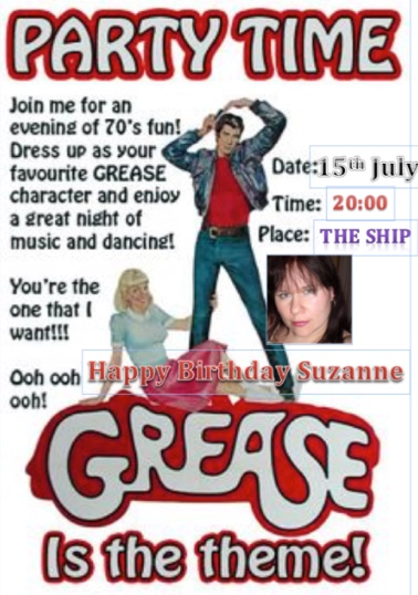 Grease is the word at the Old Ship Inn, Aveley