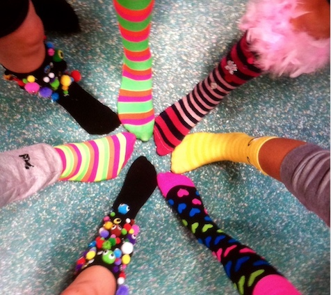 St Joseph's Primary launch fundraiser year with Funky Sock campaign