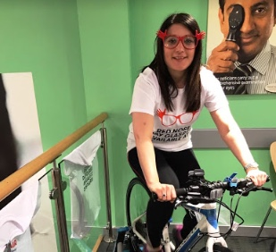 On Your Bike! intu Lakeside Specsavers makes a massive spin for Red Nose Day