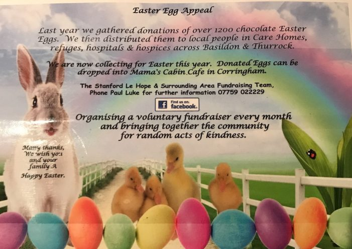 Stanford-le-Hope Easter egg appeal