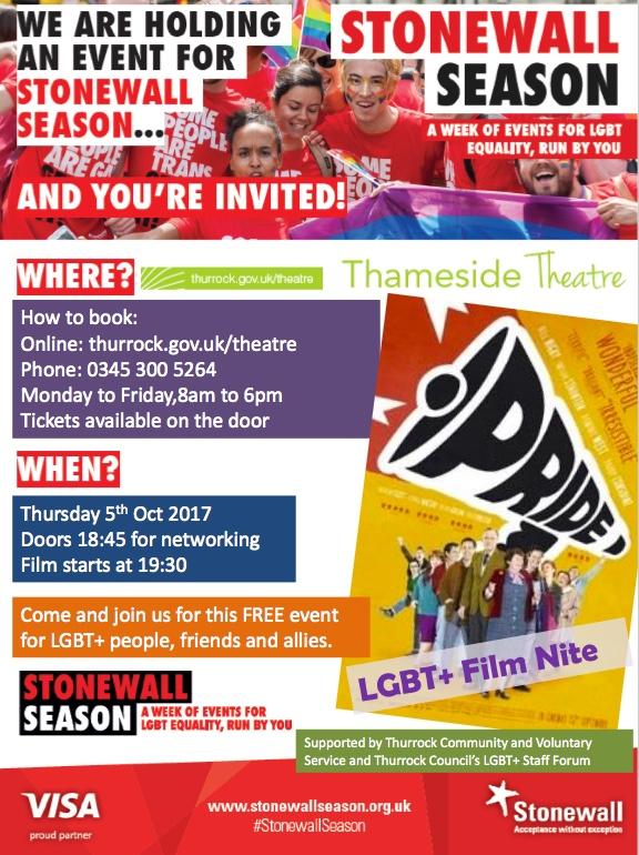 LGBT film event at Thameside Theatre