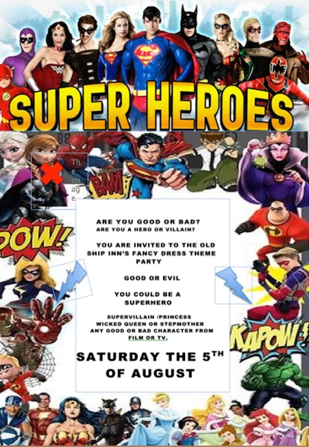 Saturday is Superhero Night at The OldShip Inn, Aveley