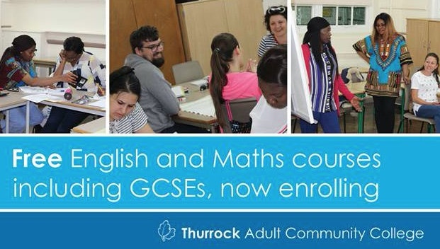 Free English and Maths Adult Learning courses in Grays