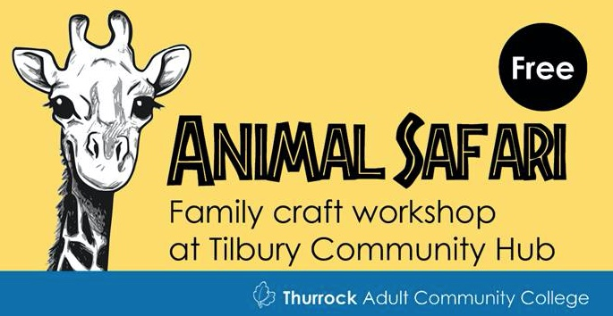 Free Animal Safari craft activity at Tilbury Hub