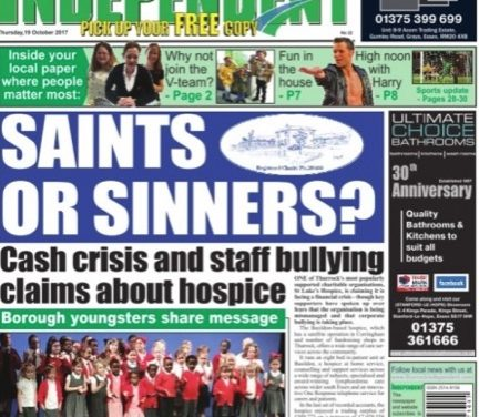 St Luke's Hospice employee loses privacy complaint against Thurrock Independent newspaper