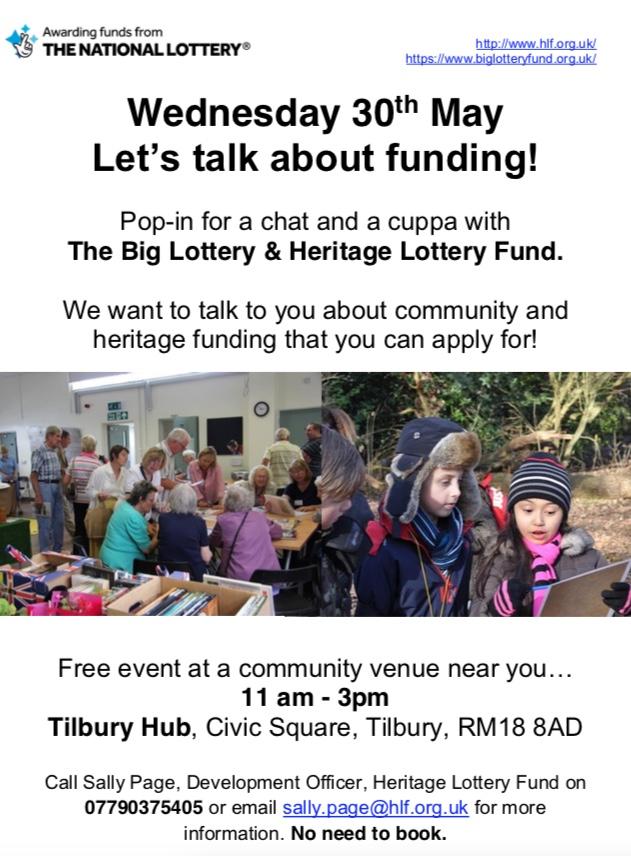 Tilbury Hub to host heritage funding event