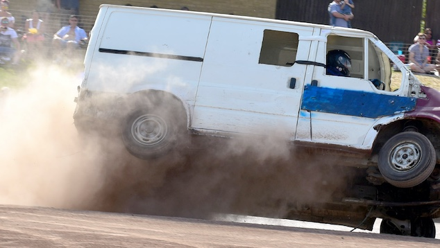 Destruction Derby highlight on Bank Holiday Monday