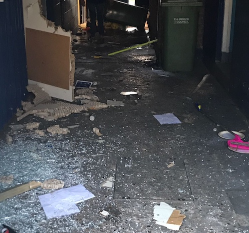Three sought after Aveley football club ransacked