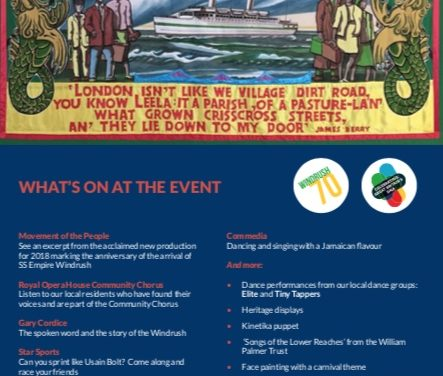 Come down to Tilbury for Windrush celebrations