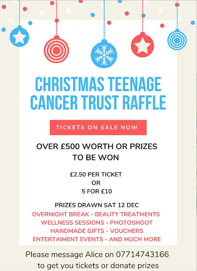 Christmas Teenage Cancer Trust Raffle