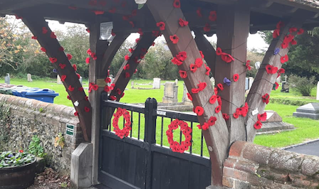 Bulphan WI install poppy display at churchyard