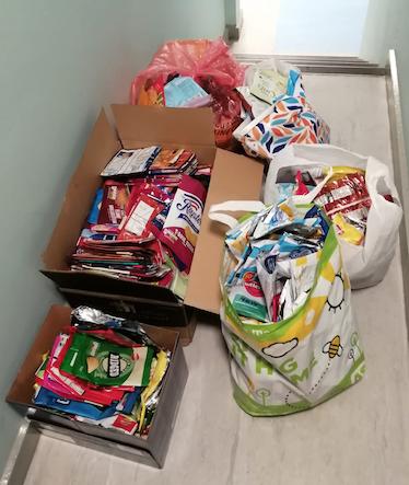 Gable Hall crisp packet donation to help keep homeless warm