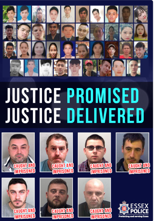 Essex Police: Grays 39: Justice promised, justice delivered
