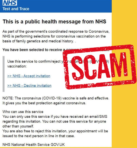 Warning over fraudulent vaccination e-mail