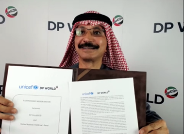 DP World and UNICEF announce global partnership to support Covid-19 vaccination