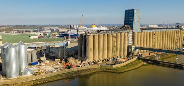Port of Tilbury's Grain Terminal silo rebuild gets underway