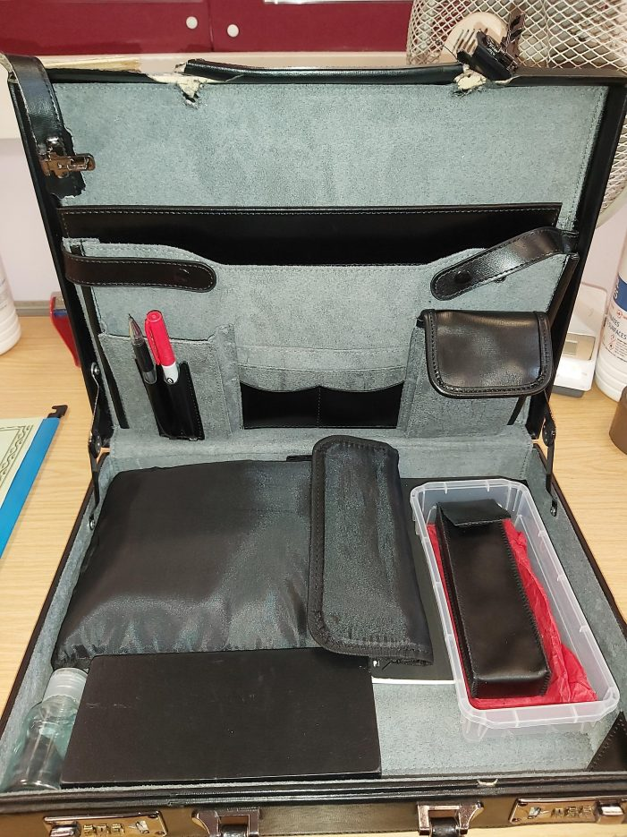 Briefcase found by police in Linford