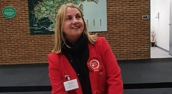Newly elected Cllr Kairen Raper thanks her residents in Tilbury St. Chads