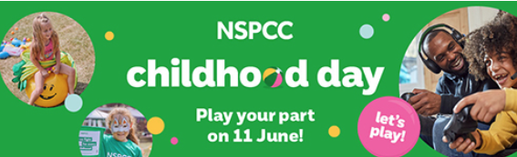 Celebrities urge UK to play in support of NSPCC's childhood day