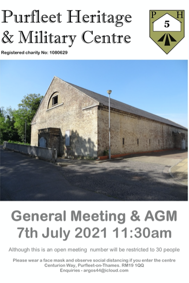 Purfleet Heritage and Military Centre General Meeting and AGM