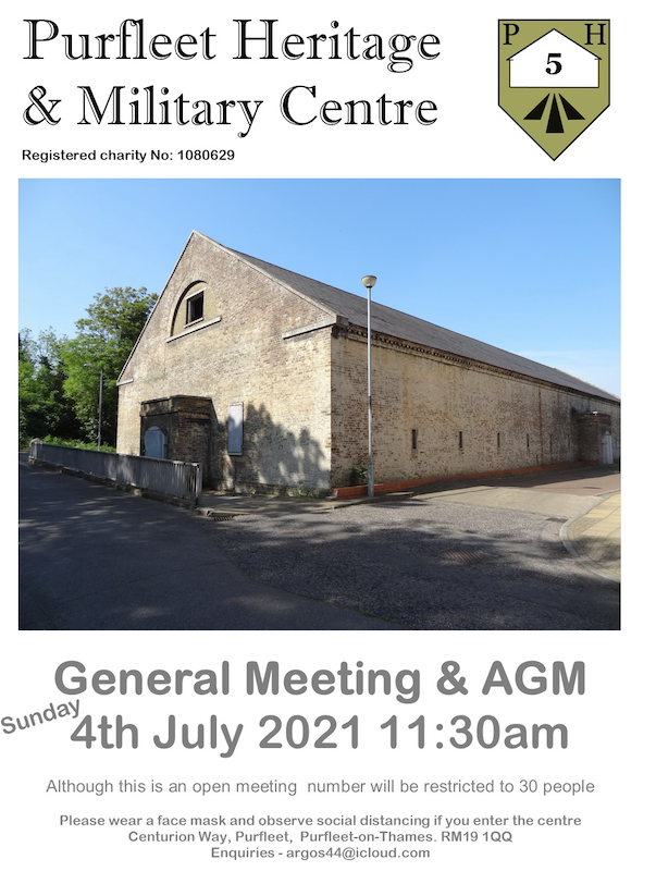 Purfleet Heritage and Military Centre AGM