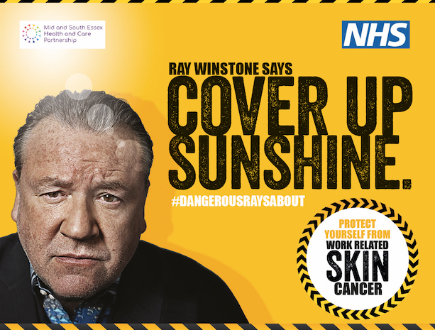 Cover up sunshine: Ray Winstone supports skin cancer prevention campaign