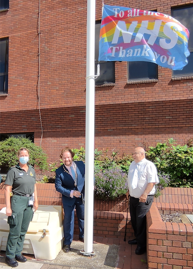 Thurrock Council flies the flag for the NHS