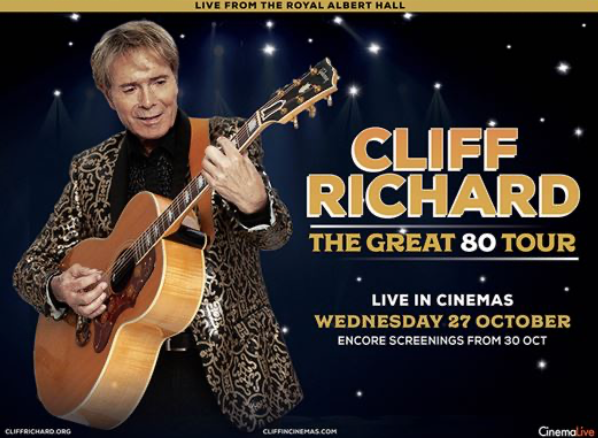 Cliff Richard's The Great 80 Tour coming to Vue Thurrock