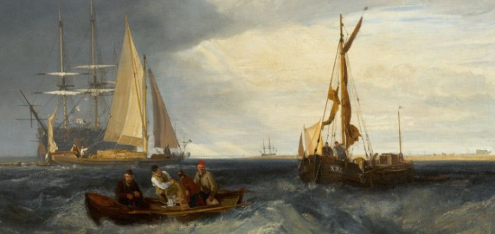 """JMW Turner painting """"Purfleet and the Essex Shore as seen from Long Reach,"""" set to be auctioned"""