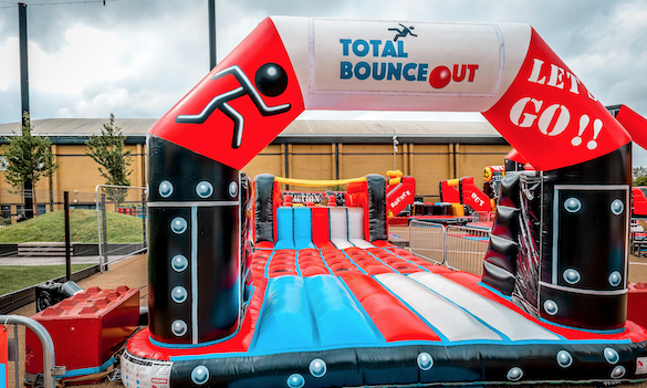 Dive into Lakeside's Total Bounceout obstacle course