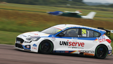 Podium performance at Thruxton for MB Motorsport accelerated by Blue Square