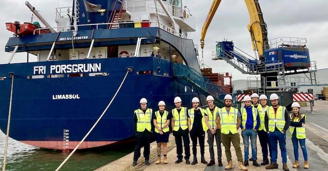 Twelve new apprentices start their career at the Port of Tilbury