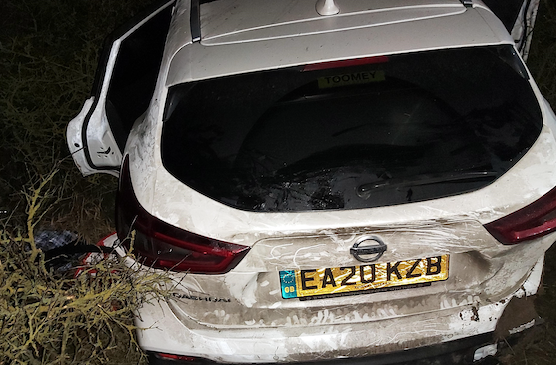 Driver jailed after careering off A13 into trees