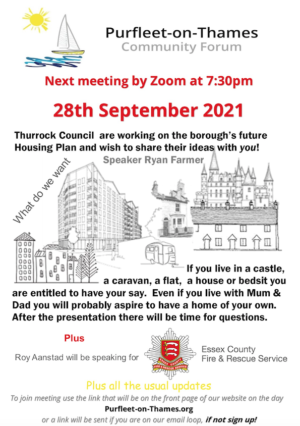 Purfleet on Thames Community Forum to discuss housing