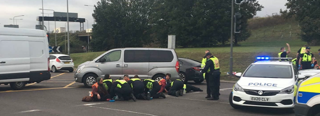 Police make arrests after protesters block roads in Thurrock