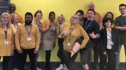 South Essex College in yellow to support mental health awareness