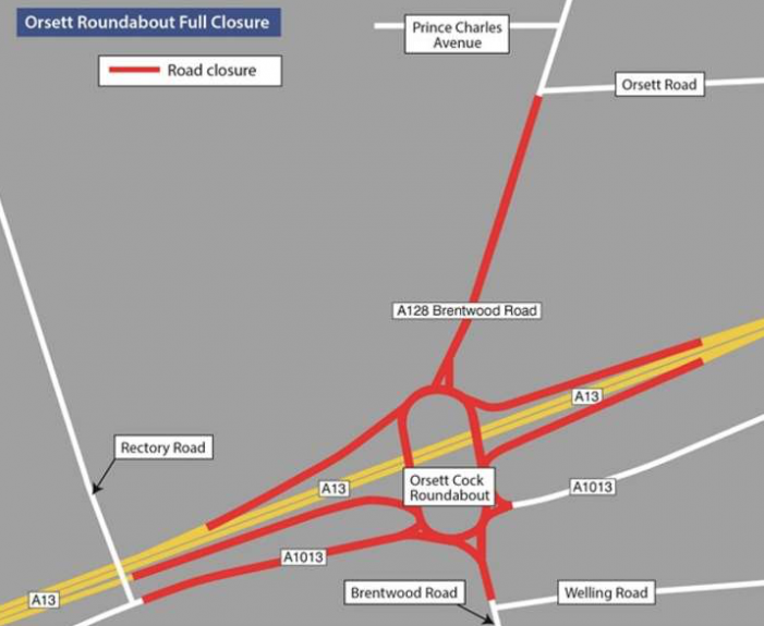 Closure of major junction roundabout for whole weekend is set to bring widespread disruption