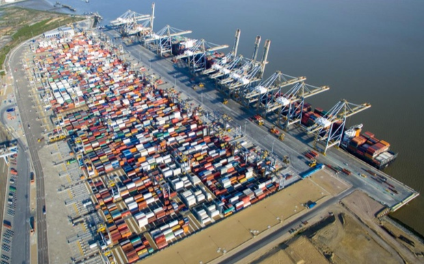 New container storage yard to be opened at DP World London Gateway Port.