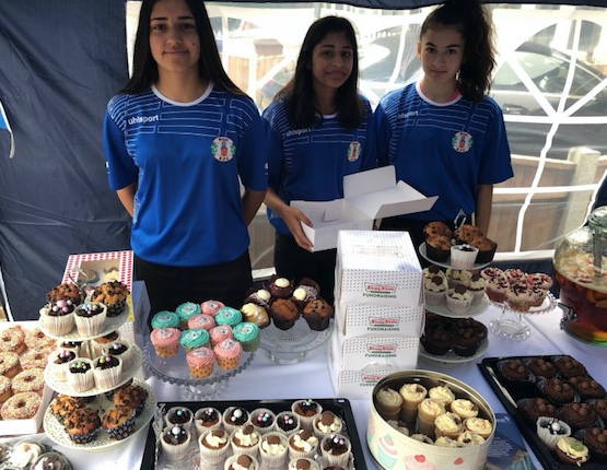 Grays Athletic girls raise over a thousand pounds for charity
