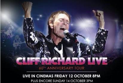 See Sir Cliff Richard's 60th anniversary tour at Vue Thurrock