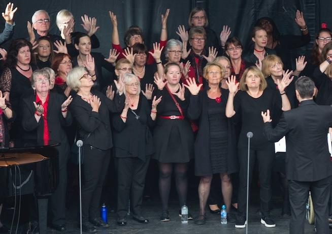 Thurrock Community Chorus fly the flag at Royal Opera House