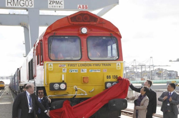 From Stanford-le-Hope: DP World train arrives in China