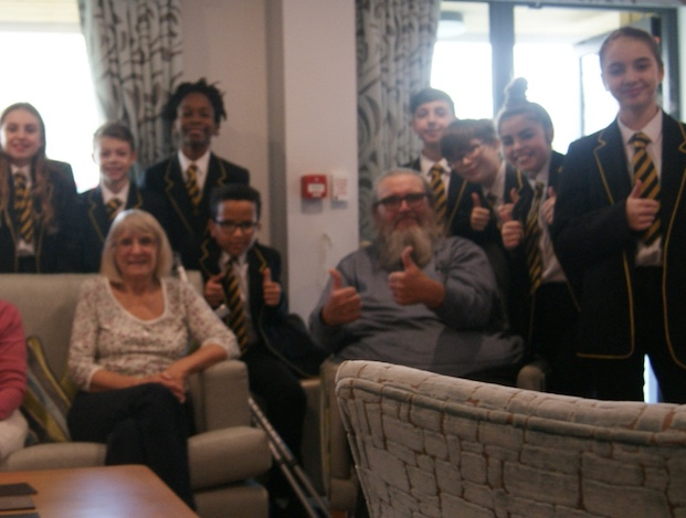 Gateway Academy students visit care homes as part of Million Minutes campaign