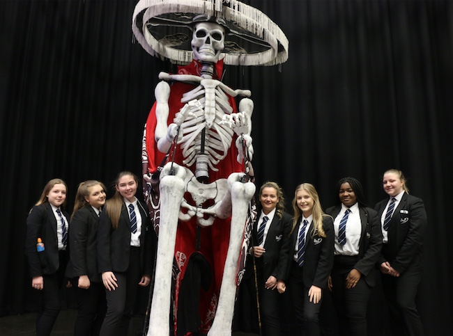 Gateway Academy students amazed by gigantic puppets