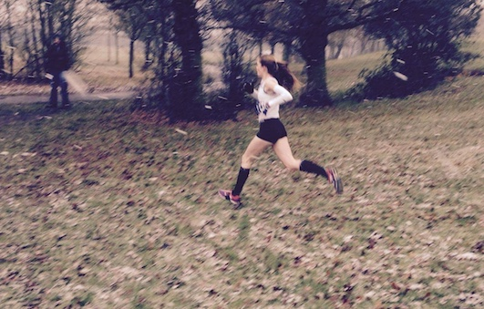 Athletics: Hayley wins Cross-County in an Instance!