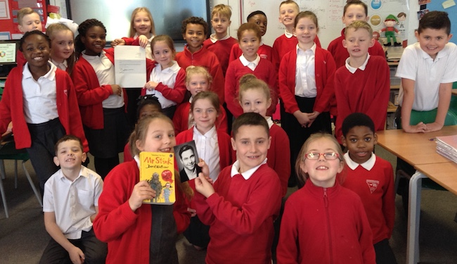 David Walliams writes to Herringham students about Mr Stink