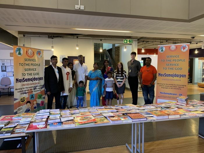 Telugu language book exhibition at Grays Library