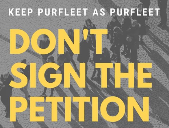 Campaigner says no to Purfleet name change